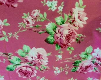 Barefoot Roses by Tanya Whelan for Free Spirit Fabric  Pink Rose
