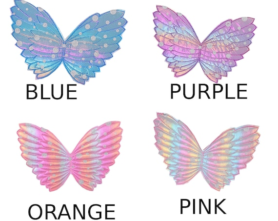 Angel fairy butterfly wings for dogs  quilted  embroidered pink blue purple or orange dog costume