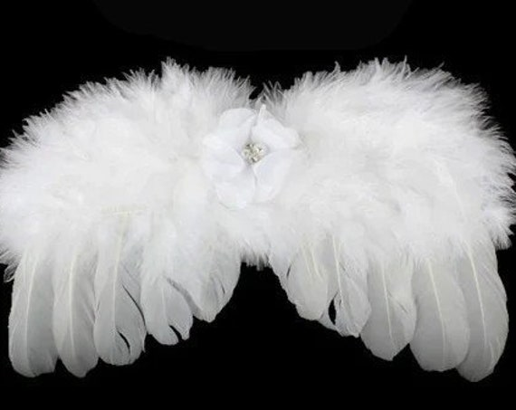 Puppy Bows ~ Halloween Angel wings for dogs pink purple red green white dog costume feather FREE SHIPPING fit 5lb - 25lb
