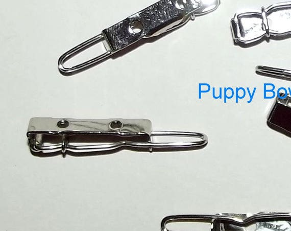 Puppy Bows ~ SUPER TINY craft items dog bow making supplies 20mm hair DIY barrette clip