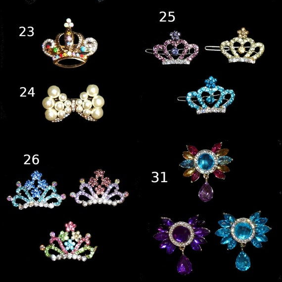 Puppy Bows ~Tiara crown for dogs styles #23-31 rainbow cat pearls many colors styles US seller