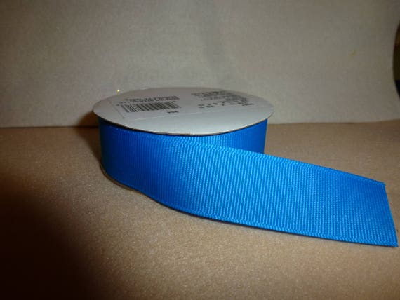 "Puppy Bows ~  craft supplies Aegean blue grosgrain ribbon 7/8"" x 6 yards (CS2)"