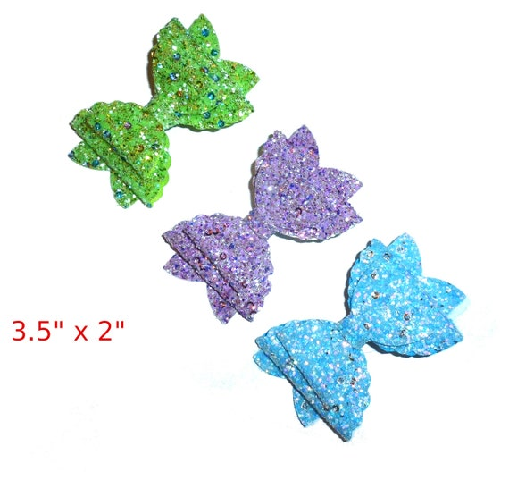 neck strap or  BIG DOG glitter pet hair bow with plastic ball clip barrette or latex bands  (fb68)