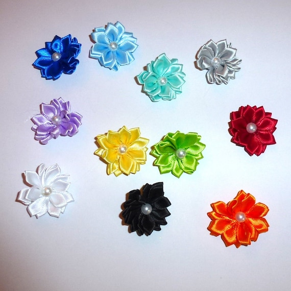 Daisy flower dog bow  pet hair clip barrette or latex bands (fb243)