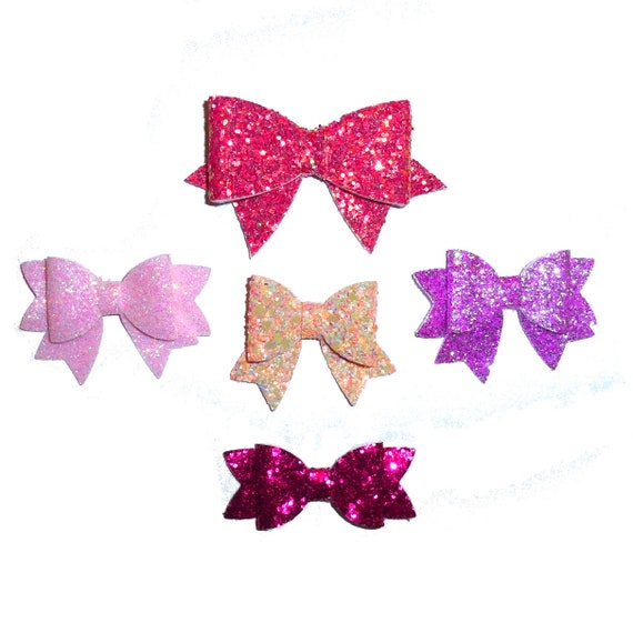 Dog Bows ~  Fancy glitter bowknot , barrette bow glitter hair clips for pets (Fb326)