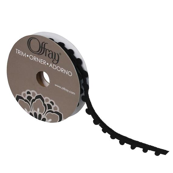 "ribbon craft supplies 3mm pom pom black or green baby pom poms 3/8"" trim  US seller"