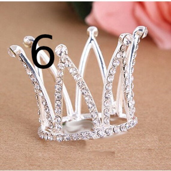 Puppy Bows ~ 3D silver red tiara crown for dogs pet hair barrette gold or silver