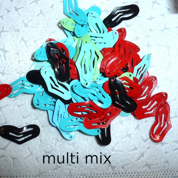 Puppy Bows ~Barrette snap clip TINY HEARTS girl and boy colors shape bow dog Maltese  PINK or multi ~Usa seller