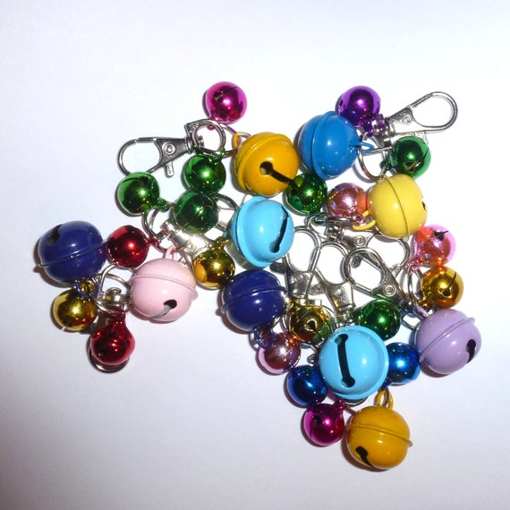 Puppy Bows ~ Dog cat collar jingle bells charm accessory clip 3 sizes