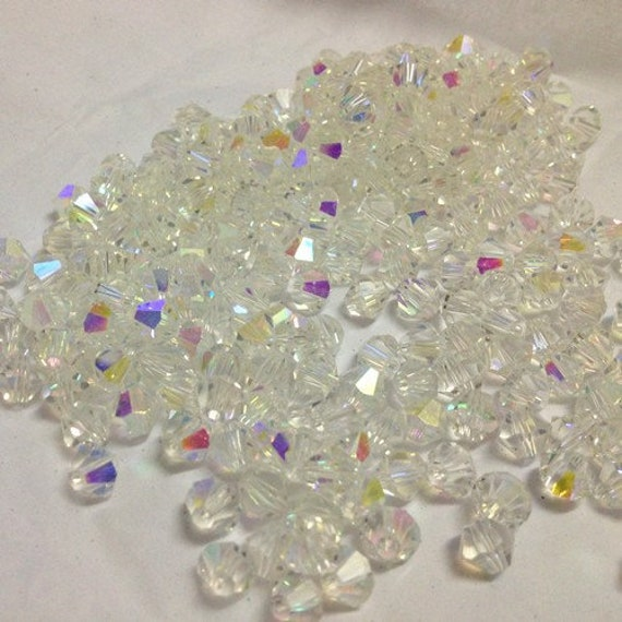 Puppy Bows craft items ~  Horizon bi-cone faceted plastic crystal beads 6mm 8mm assortment