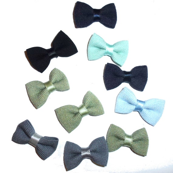 Puppy Bows ~  everyday 10 dog groomers grooming pet hair bows boy colors (fb61)