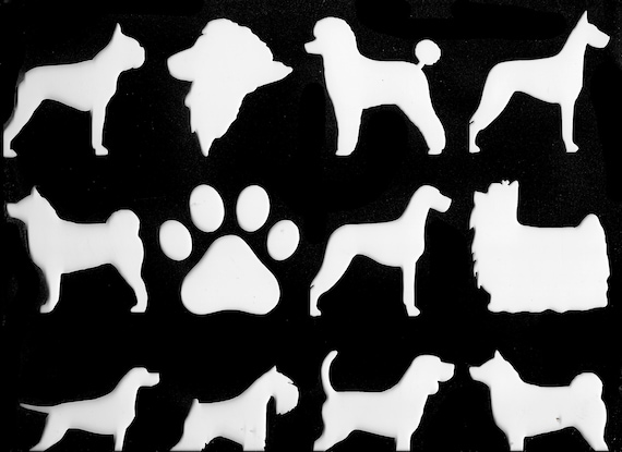 Puppy Bows ~ FREE SHIP! Working group your choice dog breed indoor outdoor vinyl stickers - many colors, sizes