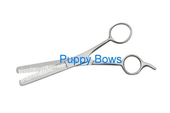 Puppy Bows ~dog grooming double edged thinning shears stainless steel easy matt removal scissors~ USA seller