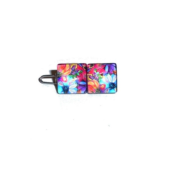 """Puppy bows TINY 3/4""""  fabulous flower petals  pet hair barrette clip (fb77)"""