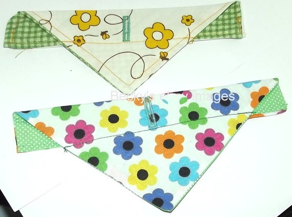 CLEARANCE SALE 50% OFFPuppy Bows~2 over the collar dog pet bandana flowers dots extra small ~US Seller