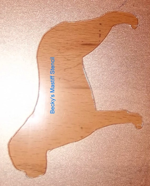 Puppy Bows ~ Bull Mastiff dog breed plastic craft stencil