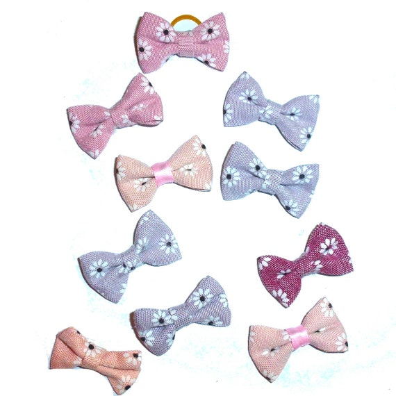 Puppy Bows ~  everyday 10 dog groomers grooming pet hair bows girl colors (fb60)