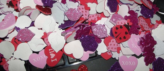 Puppy Bows ~ craft supplies FOAM VALENTINE'S day STICKERS glitter hearts, lips, candy, ladybugs