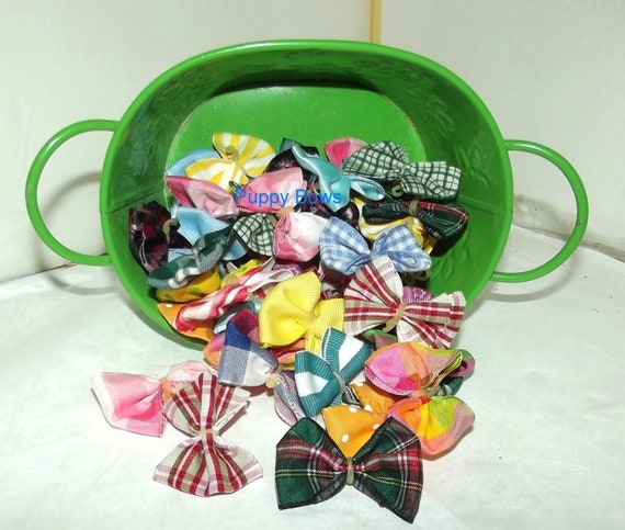 Puppy Bows ~CLEARANCE 40 EVERYDAY BOWS Yorkie Maltese Shih Tzu ~Usa seller (fbshelf)