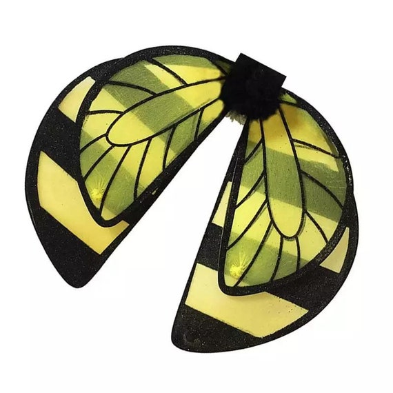 Puppy Bows ~ bumble bee glitter wings costume  for large dog fit 20-50