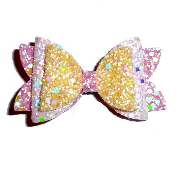 neck strap or  BIG DOG glitter collar slide pet hair bow with plastic ball clip barrette or latex bands  (fb127)