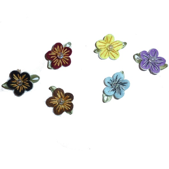 Sweet Hawaiian hibiscus flower clips pet hair bow choose barrette style and color (fb150)