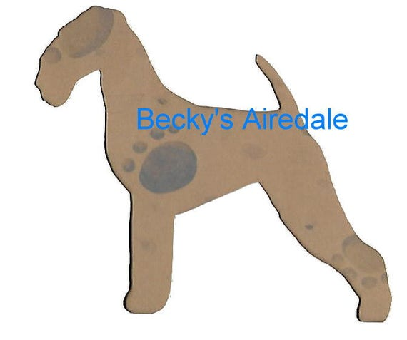 Puppy Bows ~ Airedale Terrier  dog breed plastic craft stencil