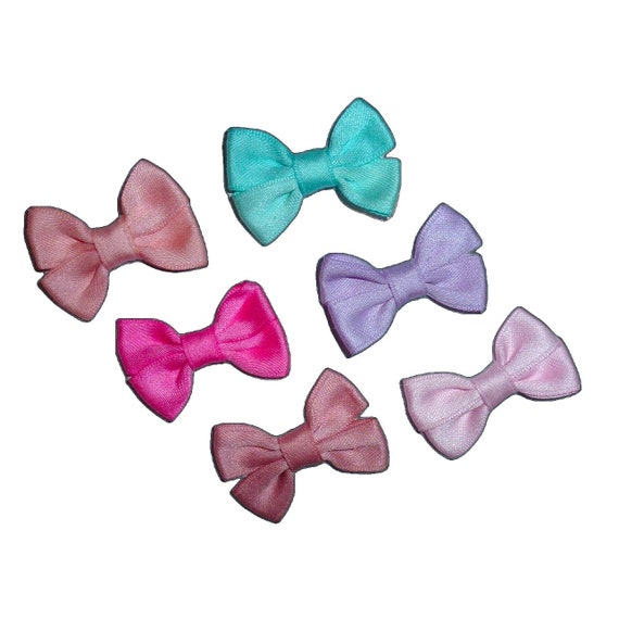 Puppy Bows ~SET OF 6 dog pet pastel  hair bowknot bow bands or barrette  (fb225)