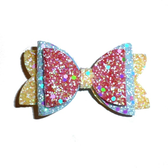 neck strap or  BIG DOG glitter collar slide pet hair bow with plastic ball clip barrette or latex bands  (fb126)