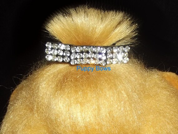 Puppy Bows ~Diamond bars MULTI styles rhinestone dog pet hair clip barrette  ~USA seller