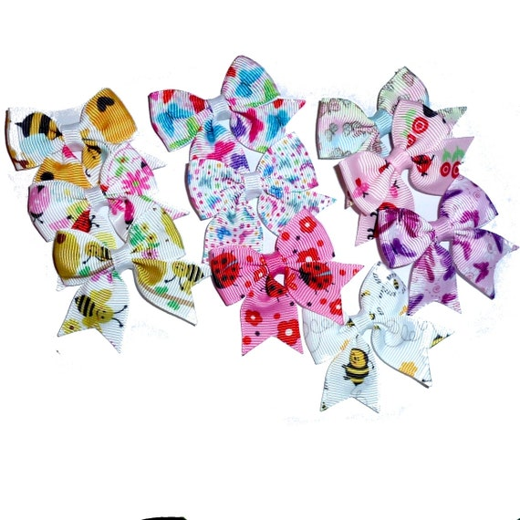10 baby bumblebee, ladybug, butterfly everyday dog groomers grooming pet hair bows