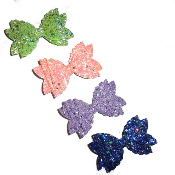 neck strap or  BIG DOG glitter collar slide pet hair bow with plastic ball clip barrette or latex bands  (fb130)