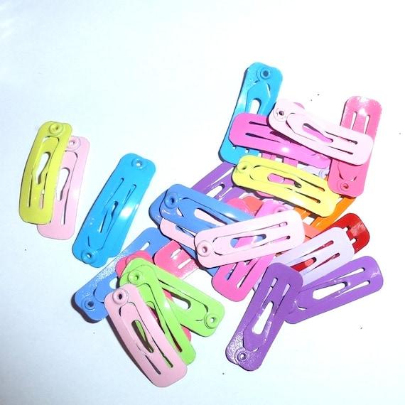 Puppy Bows ~ Barrette snap clip pretty colors tiny rectangle shape bow pet hairclip (fb15)