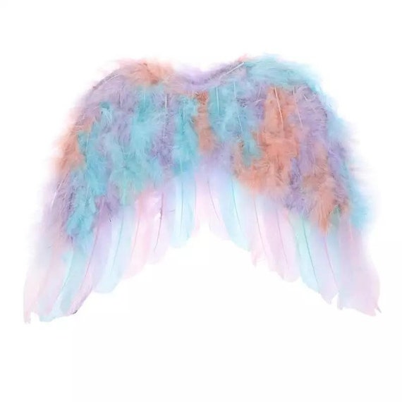 Halloween Angel wings for dogs unicorn pastel purple blue dog costume feather FREE SHIPPING fit 10lb - 35lb