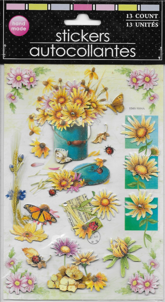 3D craft supplies scrapbook wall stickers floral medley dimensional  embellishments stickers 1 sheet