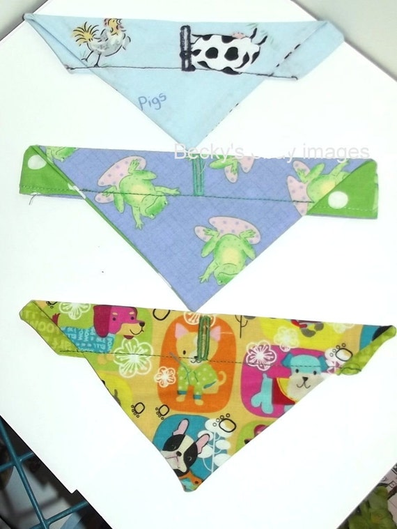 CLEARANCE SALE 50% OFFPuppy Bows~3 over the collar dog pet bandana frogs puppies extra small ~US Seller