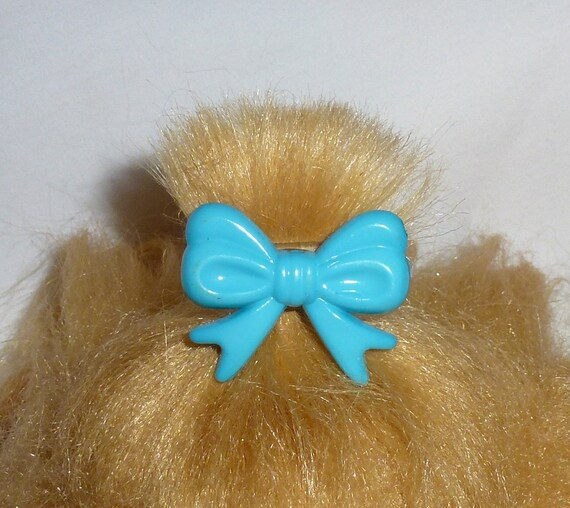 Puppy Bows ~Set of 6 dog hair barrette bowknot bow shape tiny dogs MULTICOLORS  ~USA seller
