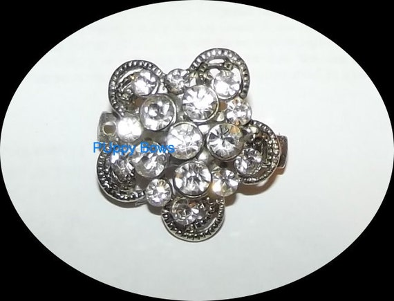 Puppy Bows ~ Strutting Peacock for boys and more bowknot rhinestones dog bow  pet hair clip barrette