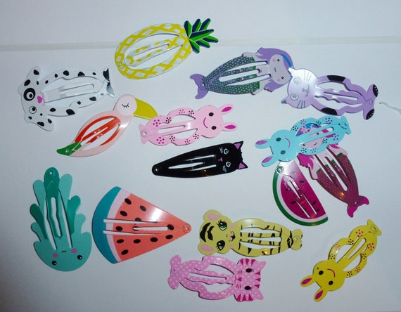 Puppy Bows ~  FINAL SALE! Set of 20 dog bow animal snap clips Monkey, elephant, panda bear and more!   (fb29)