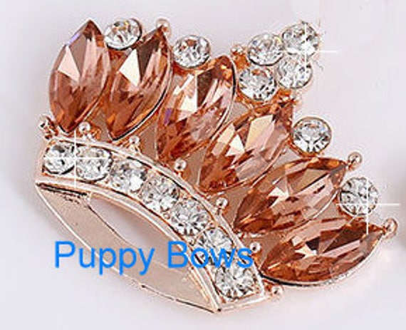 "Puppy Bows ~ 2"" blue red gold crown 4 colors! rhinestones dog bow  pet hair clip topknot barrette"