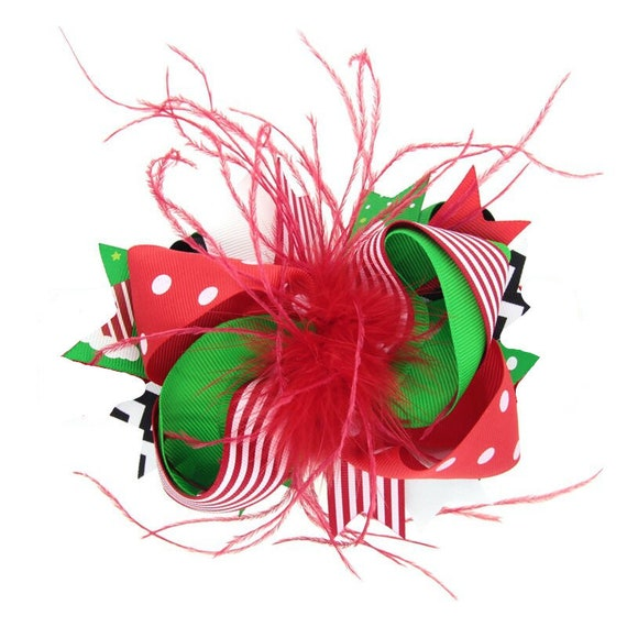 Puppy Bows ~ Dog collar slide bow Christmas light green/red or dark green/red  ~USA seller (DC5)