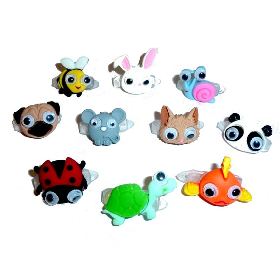 Puppy Bows ~ My puppies pet animal barrette fish, frog, panda bear clip pet hair bow (fb232)