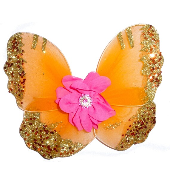 Butterfly Pink, chocolate yellow orange dog costume angel fairy butterfly wings