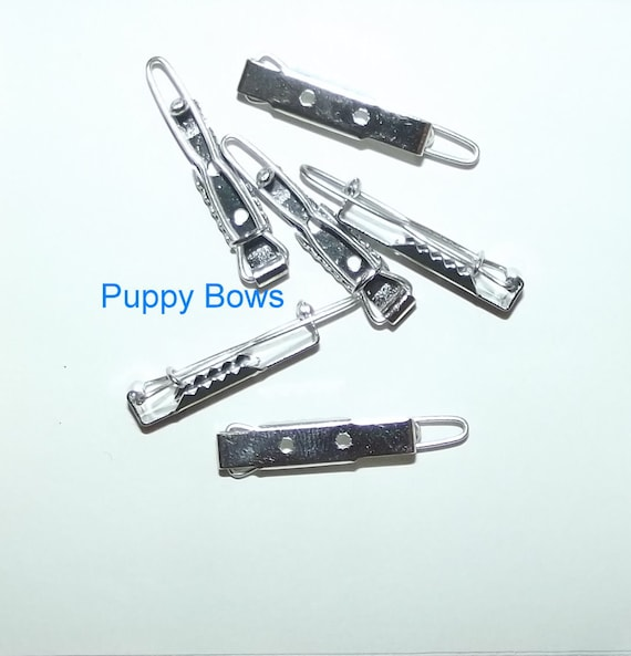 Puppy Bows ~ craft items dog bow making supplies 25mm hair DIY barrette clip