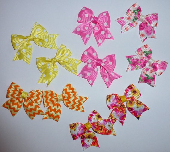 Puppy Bows ~ 10 dog bow for girls - pairs dog grooming pet hair bows - (218n)
