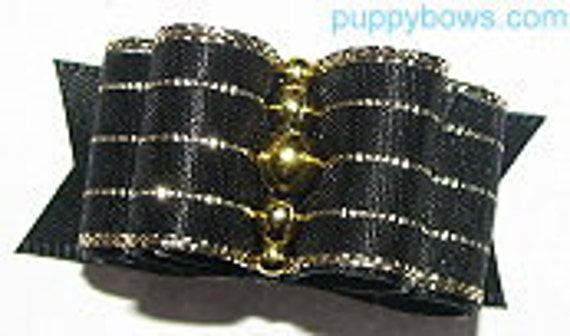 "5/8"" dog show puppy dog bows for Yorkies, Maltese and Shih Tzu"