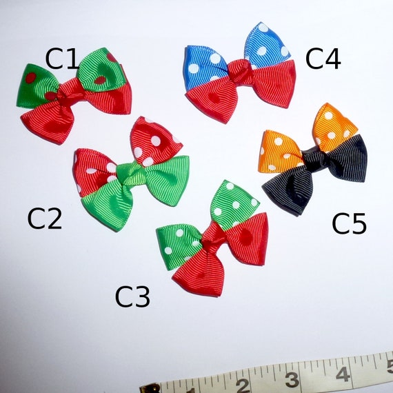 Puppy Bows ~  Holiday knot bows Christmas Halloween 4th July dog hair bow