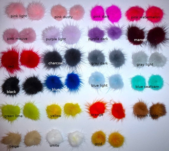 """Puppy Bows ~ Tiny 1"""" fuzzy feather fur marabou ball puffs  pet dog hair bow pairs (fb4)"""