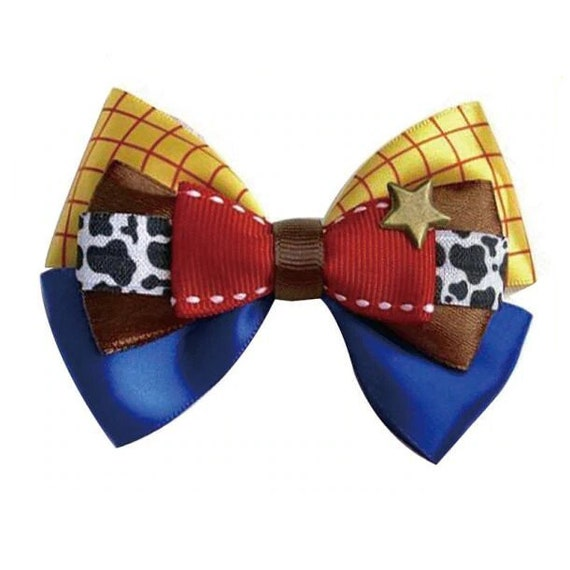 Puppy Bows ~ Woody cowboy story bow tie dog collar slide accessory  ~USA seller (DC1)