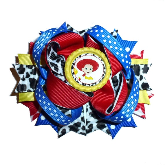 Puppy Bows ~ Dog collar slide bow large dog hair bows Jessie toy red blue cowboy  ~USA seller (dc2)